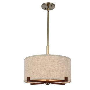 Latitude Run Carice 3-Light Drum Pendant