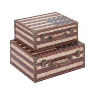Cole & Grey 2 Piece Trunk Set