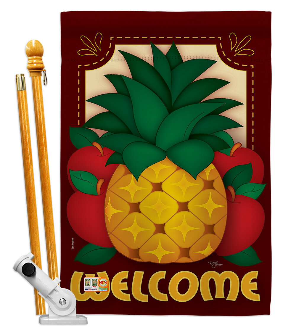 Breeze Decor Pineapple Food Fruits Impressions Decorative 2 Sided Polyester 40 X 28 In Flag Set Wayfair