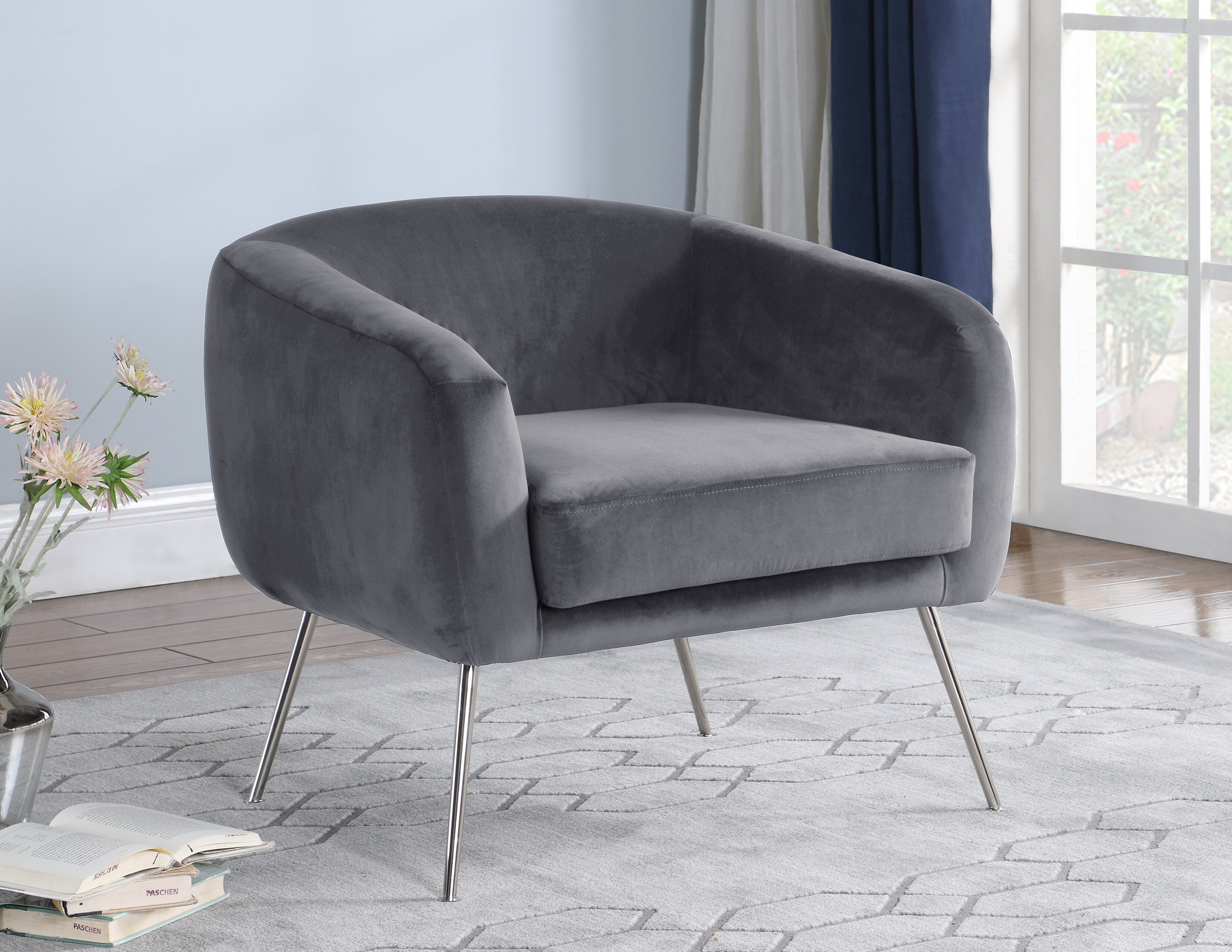 mercer41 dona fabric armchair w