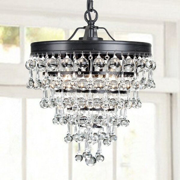 House Of Hampton Mclachlan 3 Light Mini Crystal Chandelier & Reviews by House Of Hampton