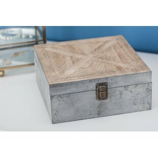 Bargain Farmhouse Wooden Box By Gracie Oaks