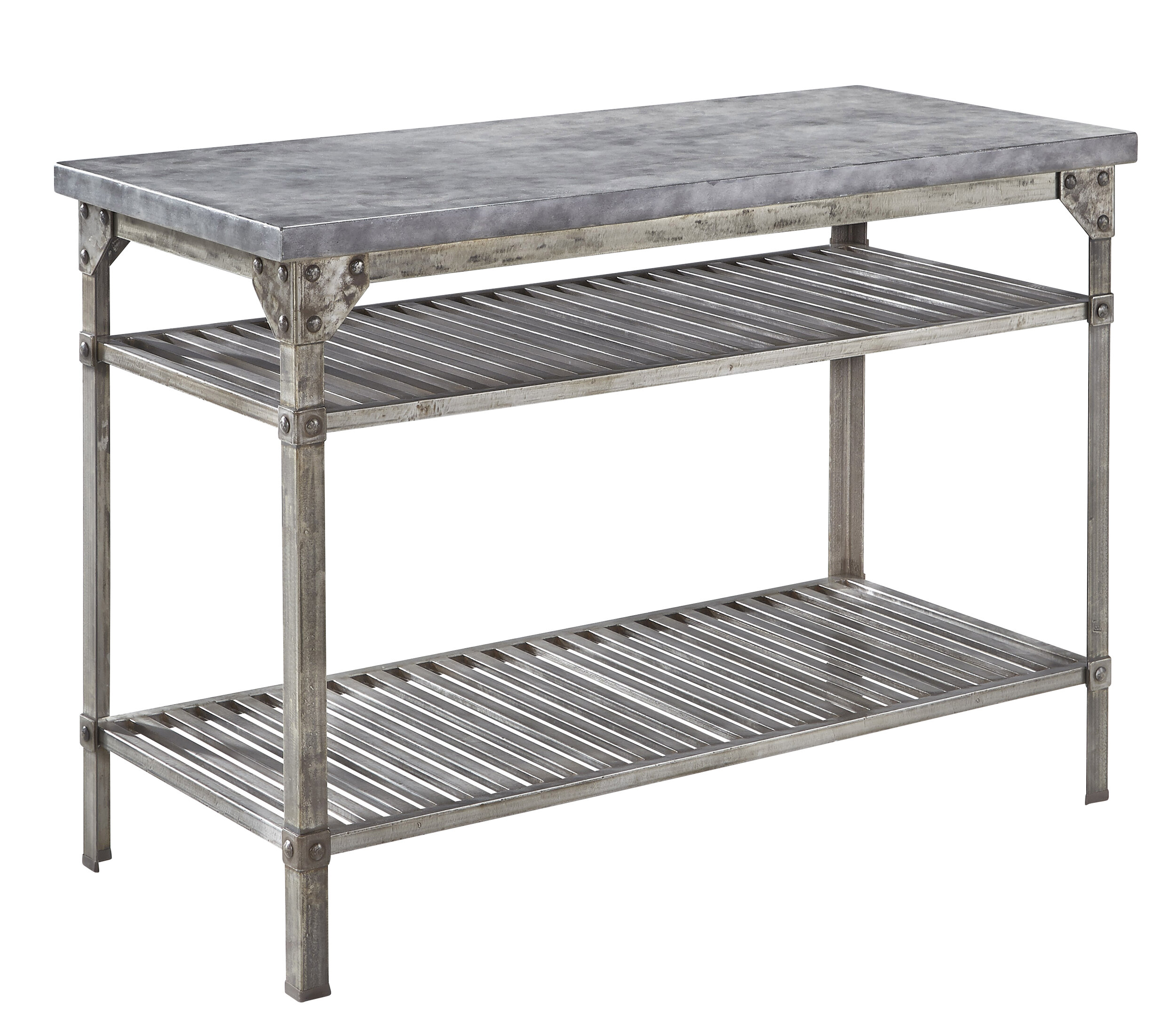 Home Styles Urban Style Prep Table with Concrete Top & Reviews