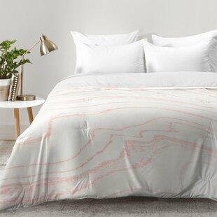Kanode Blush Marble Comforter Set by Willa Arlo Interiors