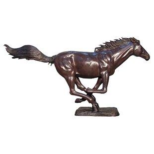 Design Toscano Racing the Wind Running Horse Cast Bronze Garden Statue