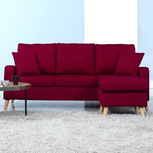 Northville SectionalRed Sectional Sofas   Wayfair. Red Sectional Living Room Furniture. Home Design Ideas