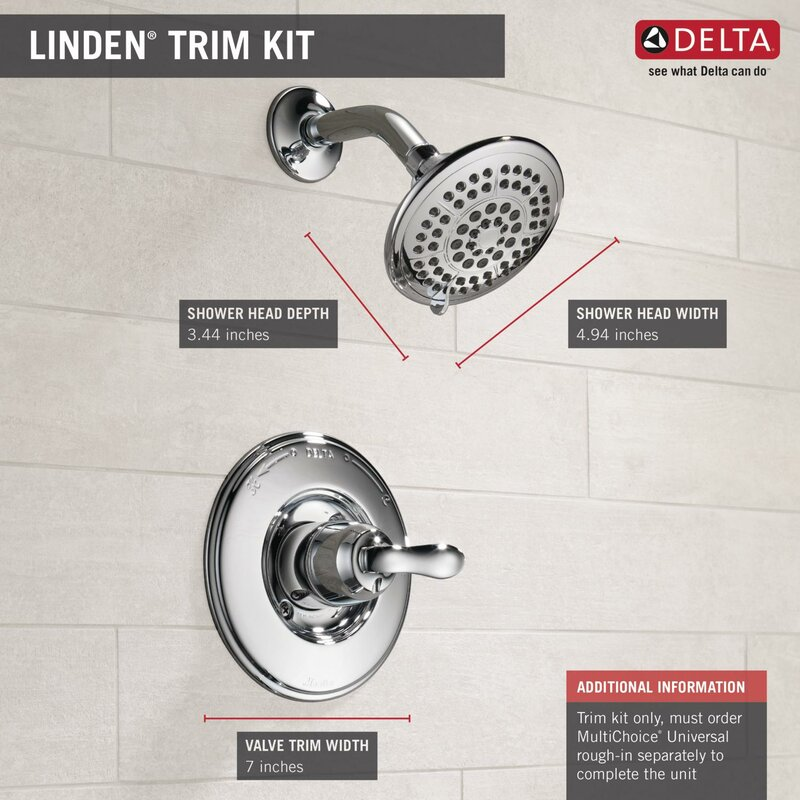 Delta Linden Shower Faucet Trim With Lever Handles And H2okinetic