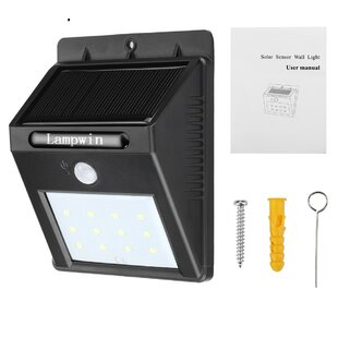 Waterproof Bright 1-Watt LED Solar Power Outdoor Security Flood Light with Motion Sensor by LANGRIA