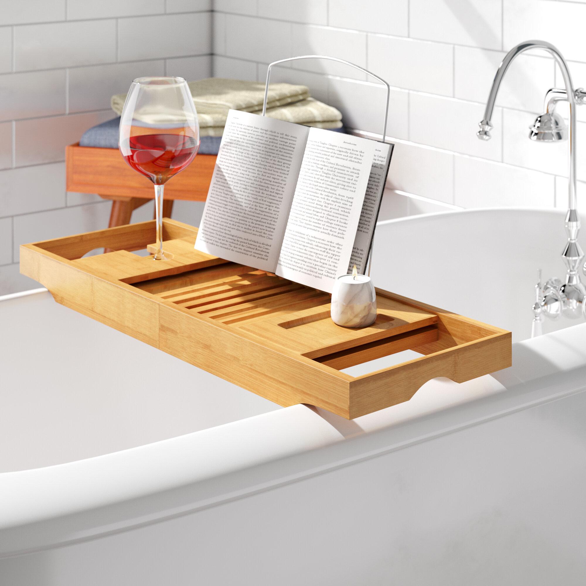 Bath Caddy Wood Shower Bathtub Accessories You Ll Love In 2020 Wayfair