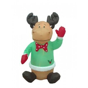 Christmas Inflatable Cute Sitting Reindeer Decoration