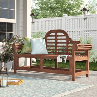 Shelbie Wooden Bench By Sol 72 Outdoor