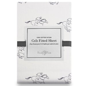 Racehorse Fitted Crib Sheet