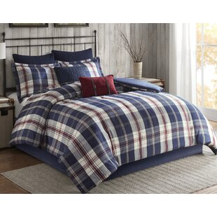 Ryland Oversized Plaid Print Comforter Set