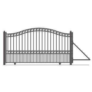 6 Ft. H Paris Steel Single Sliding Driveway Gate By ALEKO