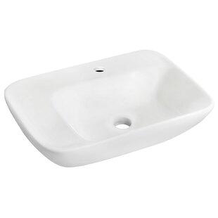 Ceramic 24 Wall Mount Bathroom Sink by Royal Purple Bath Kitchen