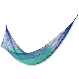 Novica Double Person Portable and Comfy Hand-Woven Mayan Artists of the Yucatan Natural Cotton with Hanging Accessories Included Camping And Outdoor Hammock