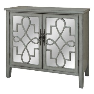 Willa Arlo Interiors Armanno Cabinet with Raised Scroll Detail 2 Door Accent Chest