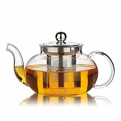 Trogdon Filtering Glass Teapot Winston Porter Capacity: 1.2 qt.