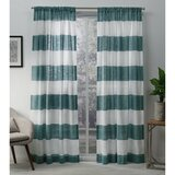 Striped Teal Curtains Drapes You Ll Love In 2021 Wayfair