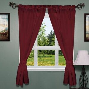 Elegant Subtle Fabric Curtain Panel (Set of 2)
