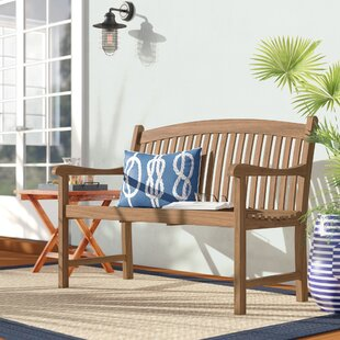 Elsmere Teak Garden Bench by Beachcrest Home 2019 Sale