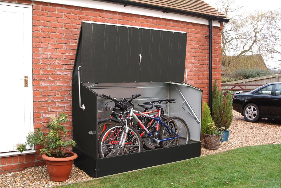 Superieur 6 Ft. 5 In. W X 2 Ft. 11 In. D Metal Horizontal Bike Shed
