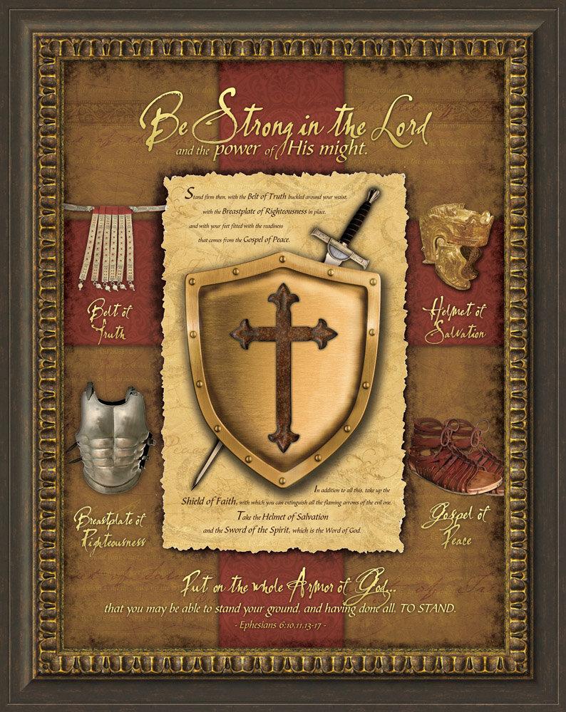 East Urban Home \'Full Armor of God\' Framed Graphic Art | Wayfair