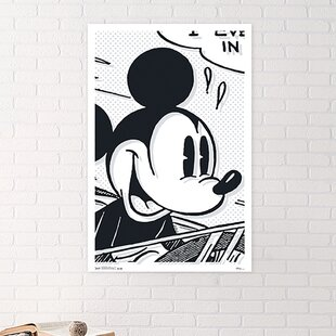 Mickey Mouse Art Deco Paper Print