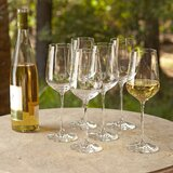 Downing 14 oz. Crystal White Wine Glass (Set of 6) byBirch Lane™ Heritage