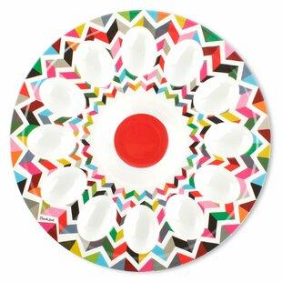 Ziggy Melamine Egg Platter