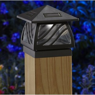 Caswell Solar Powered 2 Light LED Fence Post Cap