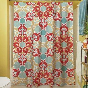 Clearance Kerrie Geometric Shower Curtain ByRed Barrel Studio