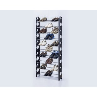 Reviews 10-Tier 30 Pair Stackable Shoe Rack By Innova Imports