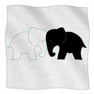 437ba6f4f9 Elephant Love by NL Designs Fleece Blanket