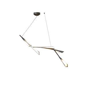 Hubbardton Forge Quill 5-Light LED Sputnik Chandelier