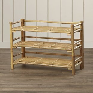 Top Brands of Josephine Bamboo Folding 3-Tier Shoe Rack By Beachcrest Home
