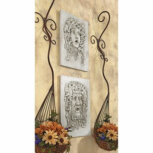2 Piece Medium Opimus And Vappa Gods Of The Grapes Italian Wall Décor