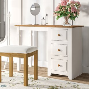Appaloosa 3 Drawer Single Pedestal Dressing Table By Three Posts