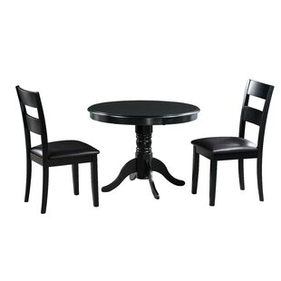 Darwin 3 Piece Solid Wood Dining Set Alcott Hill
