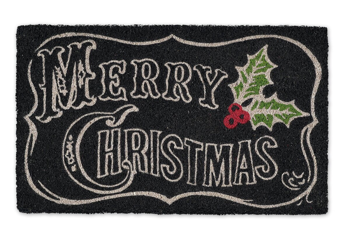 Merry Christmas Chalkboard Doormat