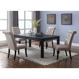 Sibert 5 Piece Solid Wood Dining Set by Charlton Home®