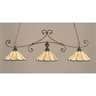 August Grove Marylin 3-Light Billiard Light