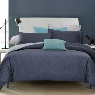 Ebern Designs Dimarco Cotton Reversible Duvet Set