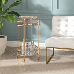 Jarom Round Bar Cart by Everly Quinn