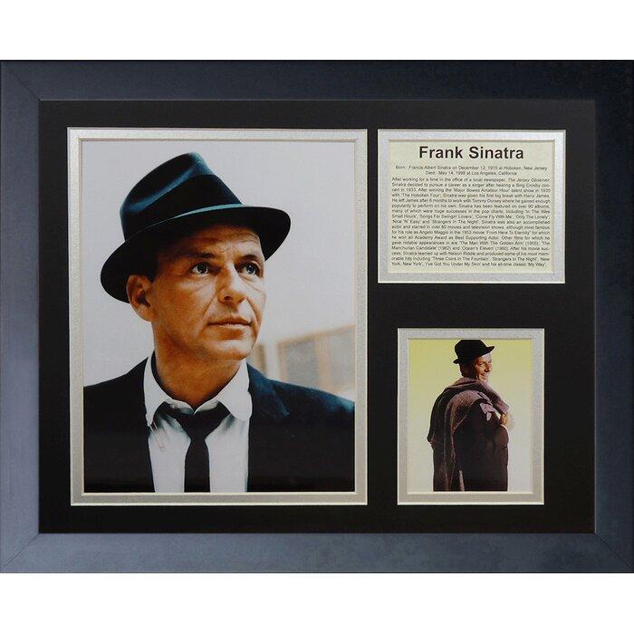 Legends Never Die Frank Sinatra Framed Memorabilia | Wayfair.ca