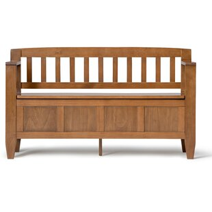 Gillingham Solid Wood Storage Bench by Three Posts