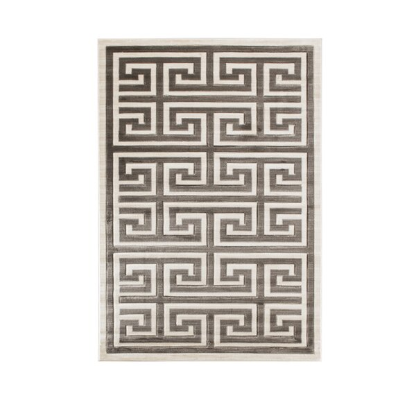 Ebern Designs Ropesville Geometric Beige Brown Area Rug Wayfair