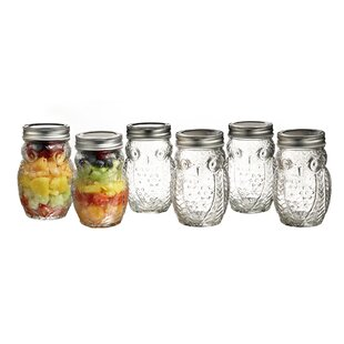 Owl 6 Piece Storage Jar Set