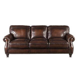 Darby Home Co Trecartin Leather Sofa