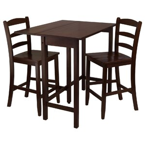 Bettencourt 3 Piece Dining Table Set b..